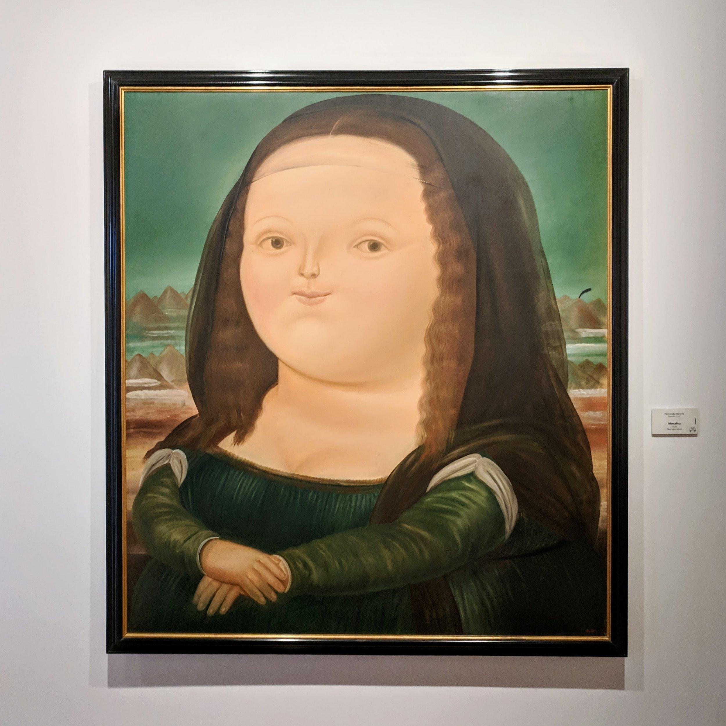 "My favorite Botero, ""Mona Lisa"""