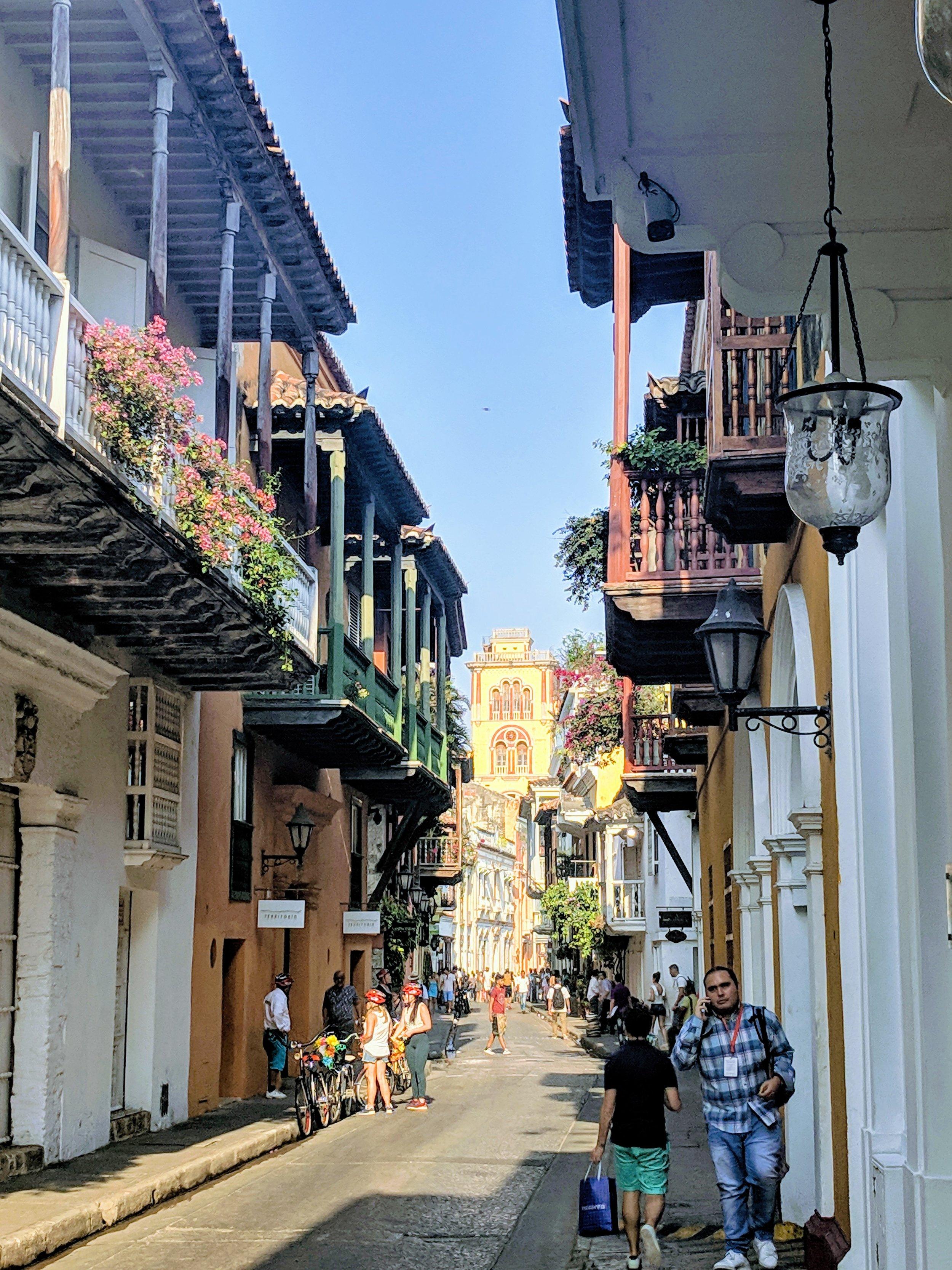 One of Cartagena's many beautiful streets