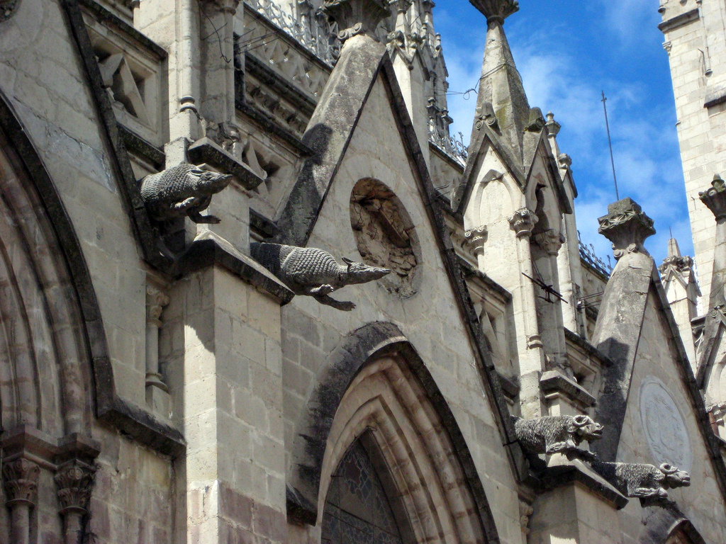 """My cellphone zoom couldn't do the gargoyles justice so here is a picture I borrowed that shows the animal """"grosteques""""  © Quite Magnifico/WikiCommons"""