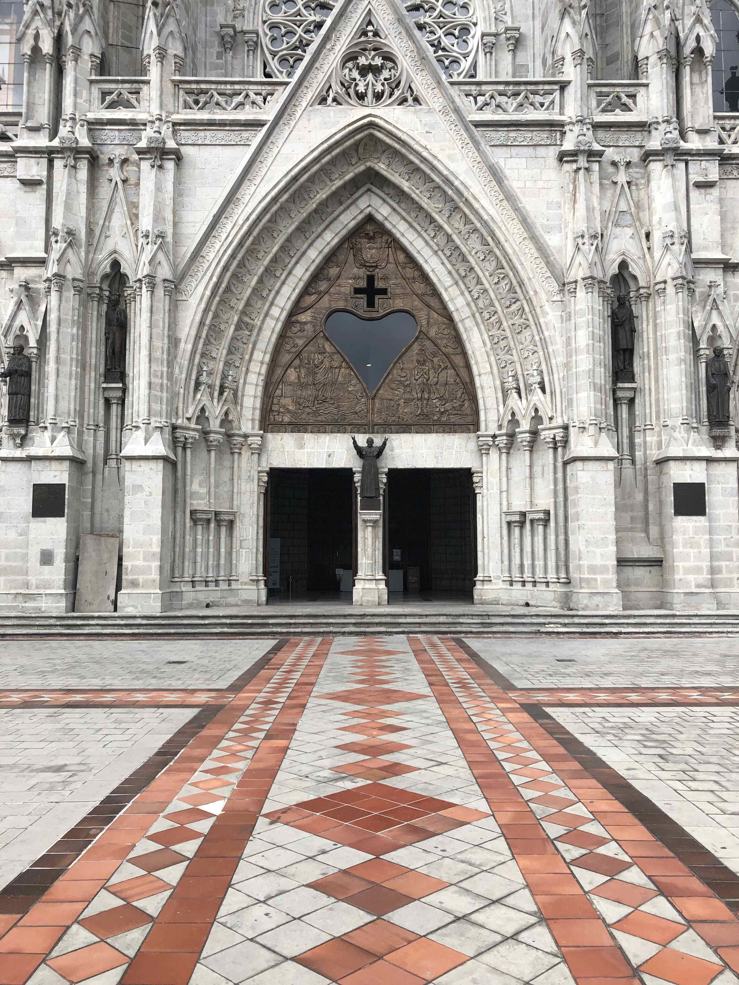 This entrance to the cathedral - no filters used!