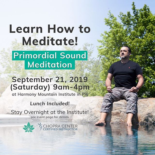 Sign up for our meditation course on September 21! We are opening the institute for a lunch + learn event for you to experience a taste of our retreats with an optional overnight stay ($100 off our normal overnight rate!) Experience the Zen inspired estate Harmony Mountain Institute and learn how to meditate the @chopracenter way  Details in bio!