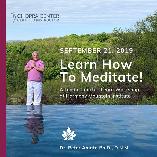 Attend Dr. Peter Amato's workshop in September! ⠀ ⠀ ⠀ Dr. Amato, founder of the Inner Harmony Approach and Harmony Mountain Institute, volunteered his time as a meditation instructor in the Pennsylvania State Correctional System and received a Distinguished Service Award from the State. In the area of substance abuse rehabilitation centers, Dr. Amato has fostered the development of programs for adults and adolescents that has successfully employed integrative medicine techniques. ⠀ ⠀ ⠀ The PSM meditation practice provides a personal mantra that correlates with your birthdate. Practice your mantra among luxurious natural surroundings by walking our labyrinth, located on top of high energy meridian fields. Gain an understanding of how to use PSM meditation in your daily life for stress relief, spiritual connection and clarity! ⠀ ⠀ Ticket Link in bio     signup before September 1 for the early bird rate!