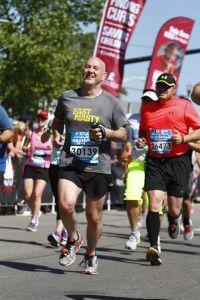 2014 CMM Half Finish -- At the finish Line of Kevin's first half marathon