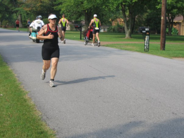 Leslie at the Old Hickory Tri in 2006