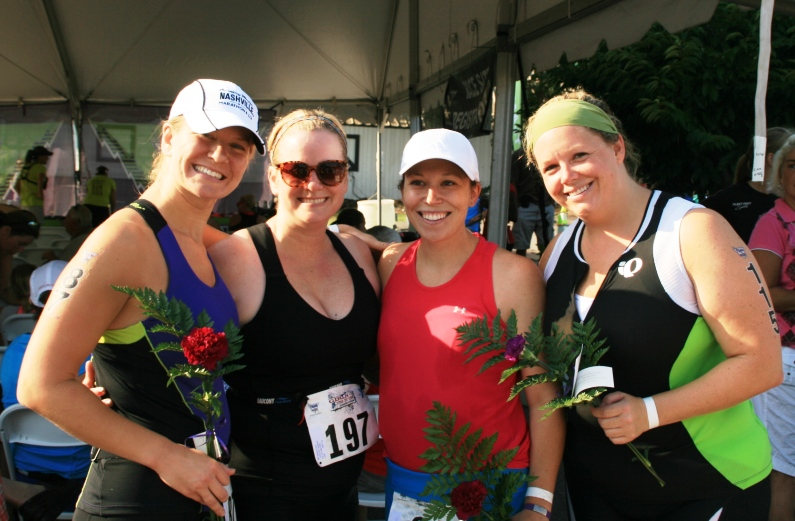 2012 Girls Tri It On with Alicia, Alison, and Heidi.