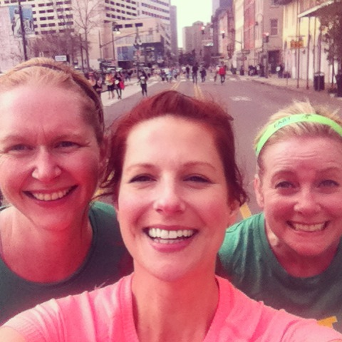 Mile 10 at the 2013 NOLA Half with Lana and Jamie