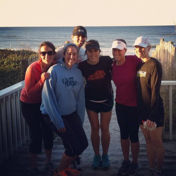 Girls at beach after Seaside Half
