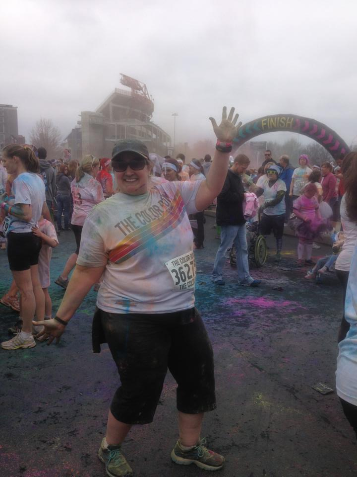 After the Color Run 5K, 2013