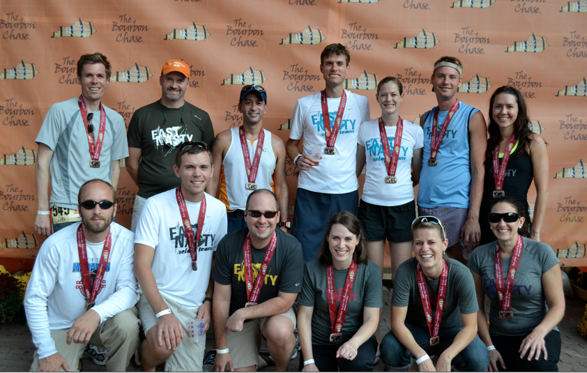 Damian with his East Nasty Bourbon Chase Team in 2011 (the one and only 'race' I've ever known Damian to run).