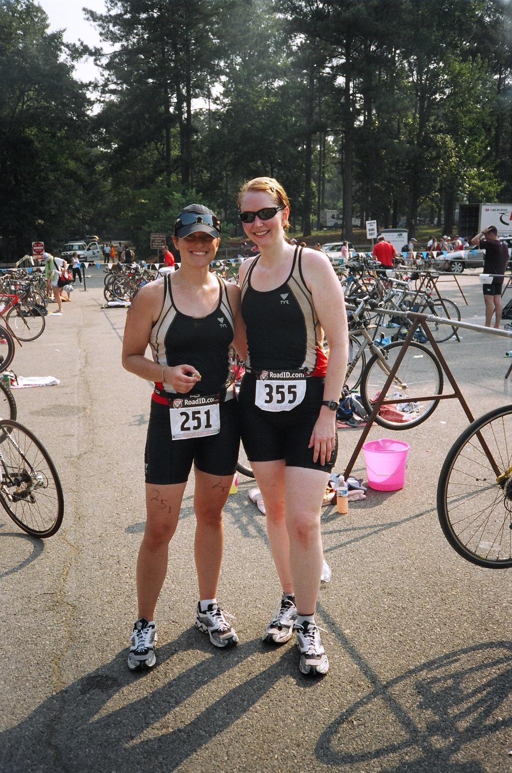 Lana & Shannon after the High Falls Triathlon