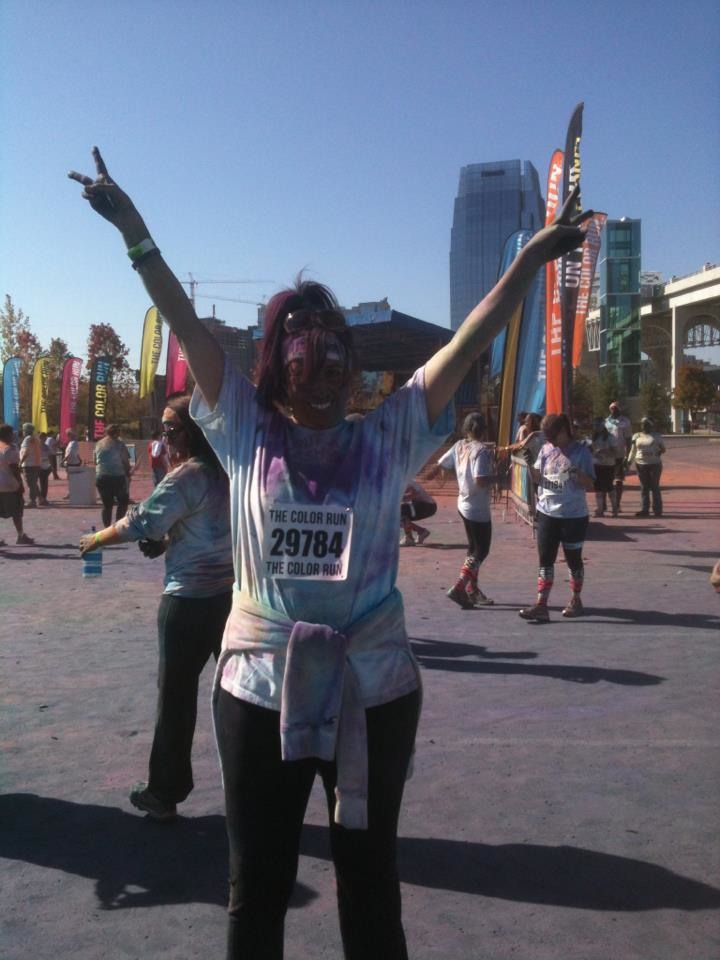 """At the Color Run, just before my heart surgery – could ONLY walk it!"""