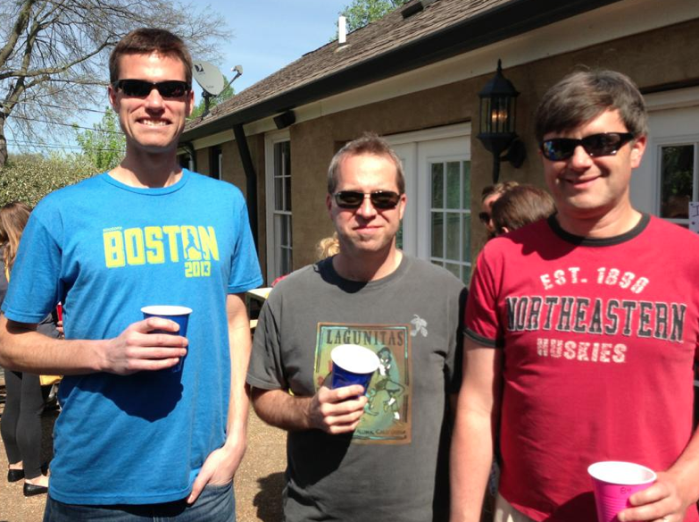 With fellow East Nasties Greg Kyle & Brian Murray