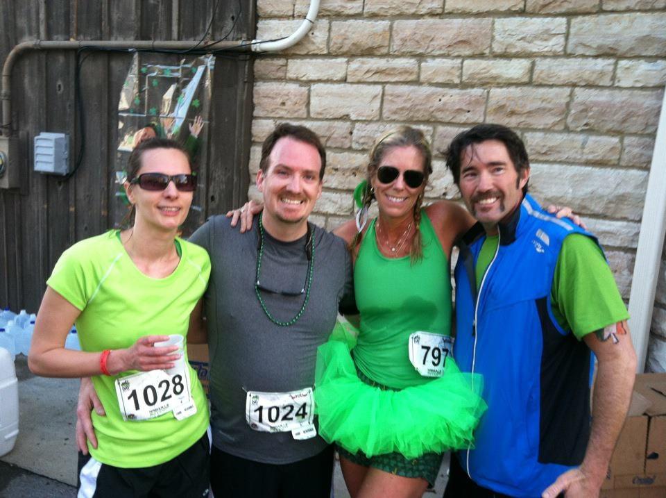 Juanita and I with Running buddies Lola and Matt