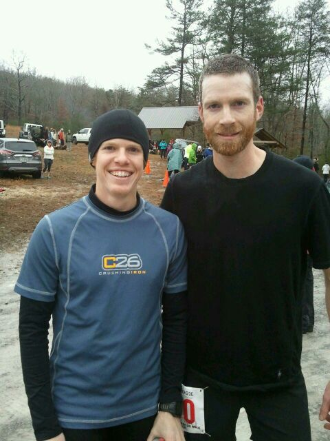 Daniel Hudgins and Steven at mile 34 of the Lookout Mountain 50 miler.