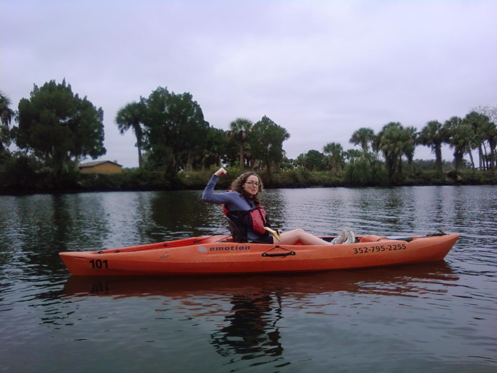 """""""Kayaking with the manatees. I won!!"""""""