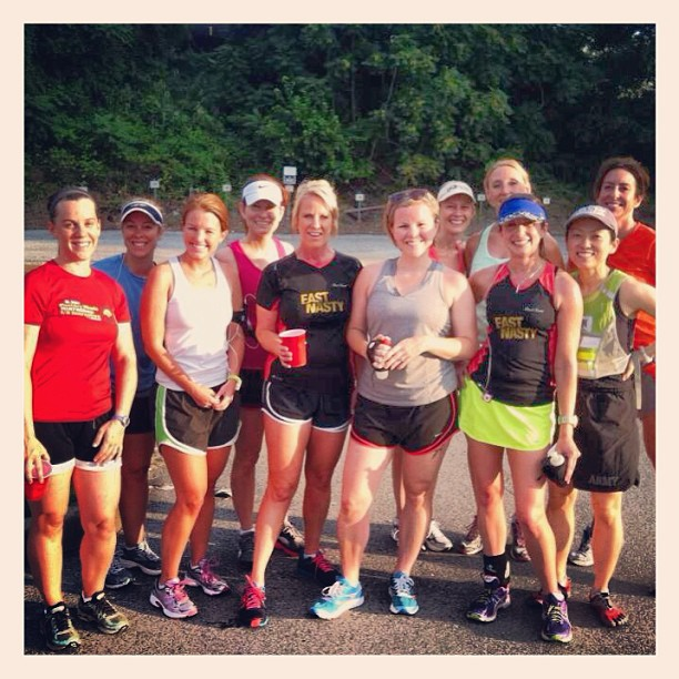 With some of the girls from PR Bandits. Running in July is so much easier with support and good running buddies.