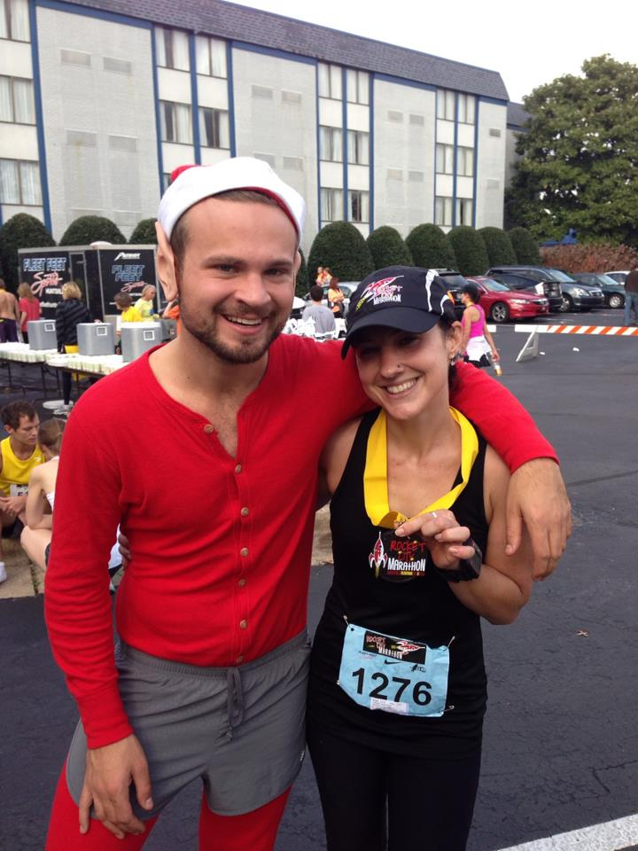 2012 Huntsville Marathon with Sarah.