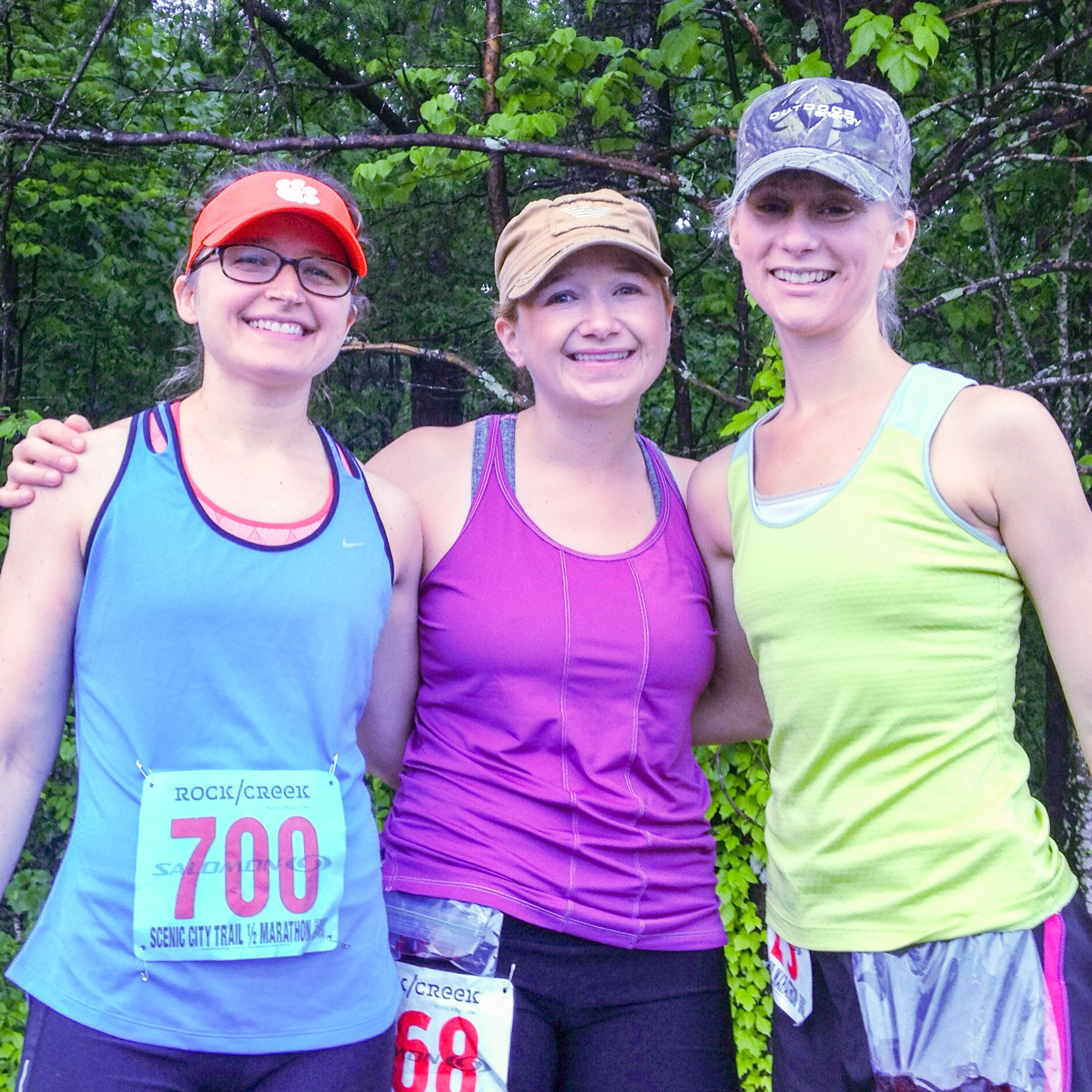 Scenic City Trail Half Marathon with Donica and Jewly, May 2013