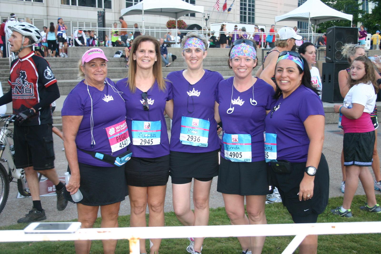 2012 Women's 5K with Susan Malone, Christine Sowell, Peggy Stanfield and Glenda Crowder