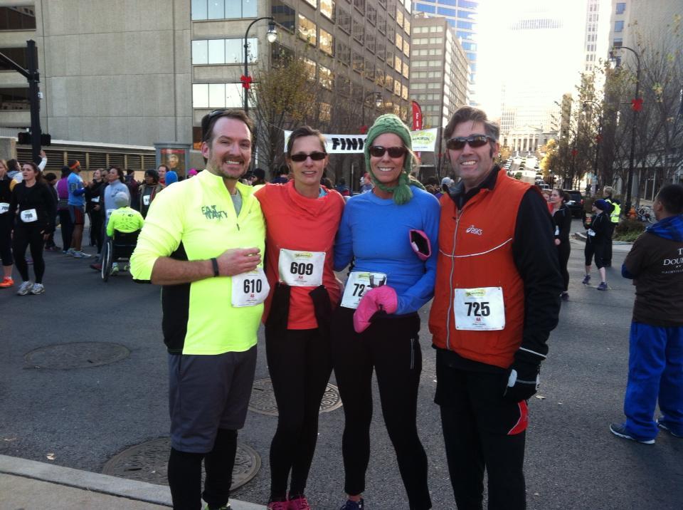 Mayors 5K 2013 with Jeremy, Lori, and Matt