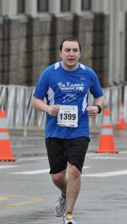 Josh running his first marathon in 2010 - the Flying Pig Marathon