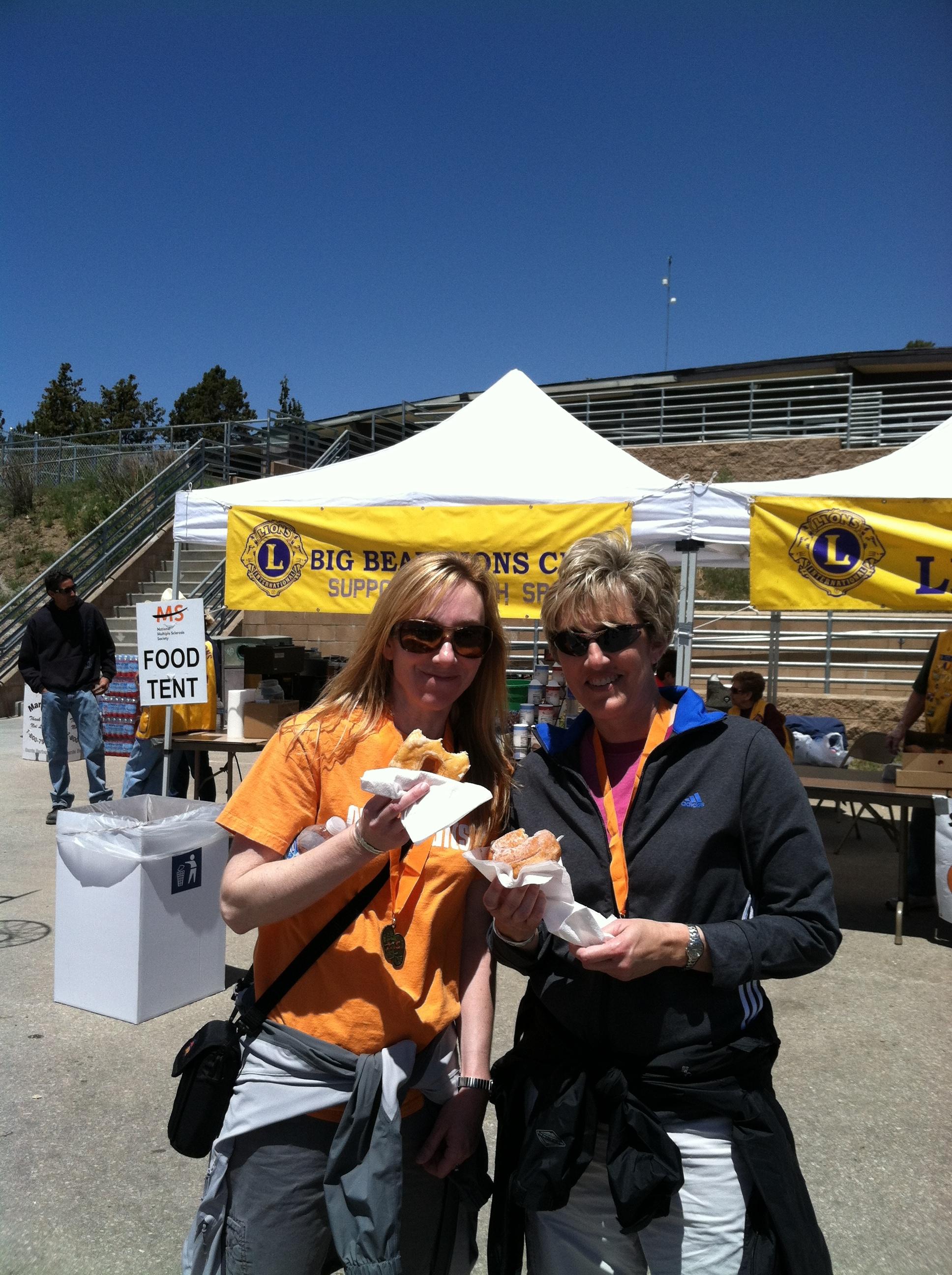 MS Walk in Big Bear, CA with sister Karen