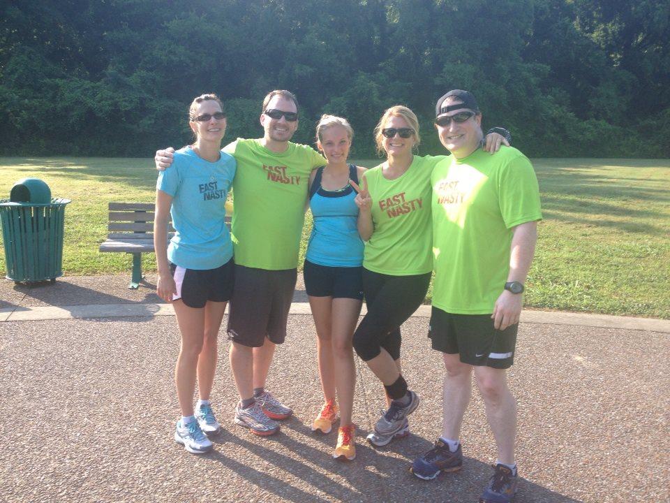 P2T training run with Jeremy, Catherine, Kym & Jeremy 2