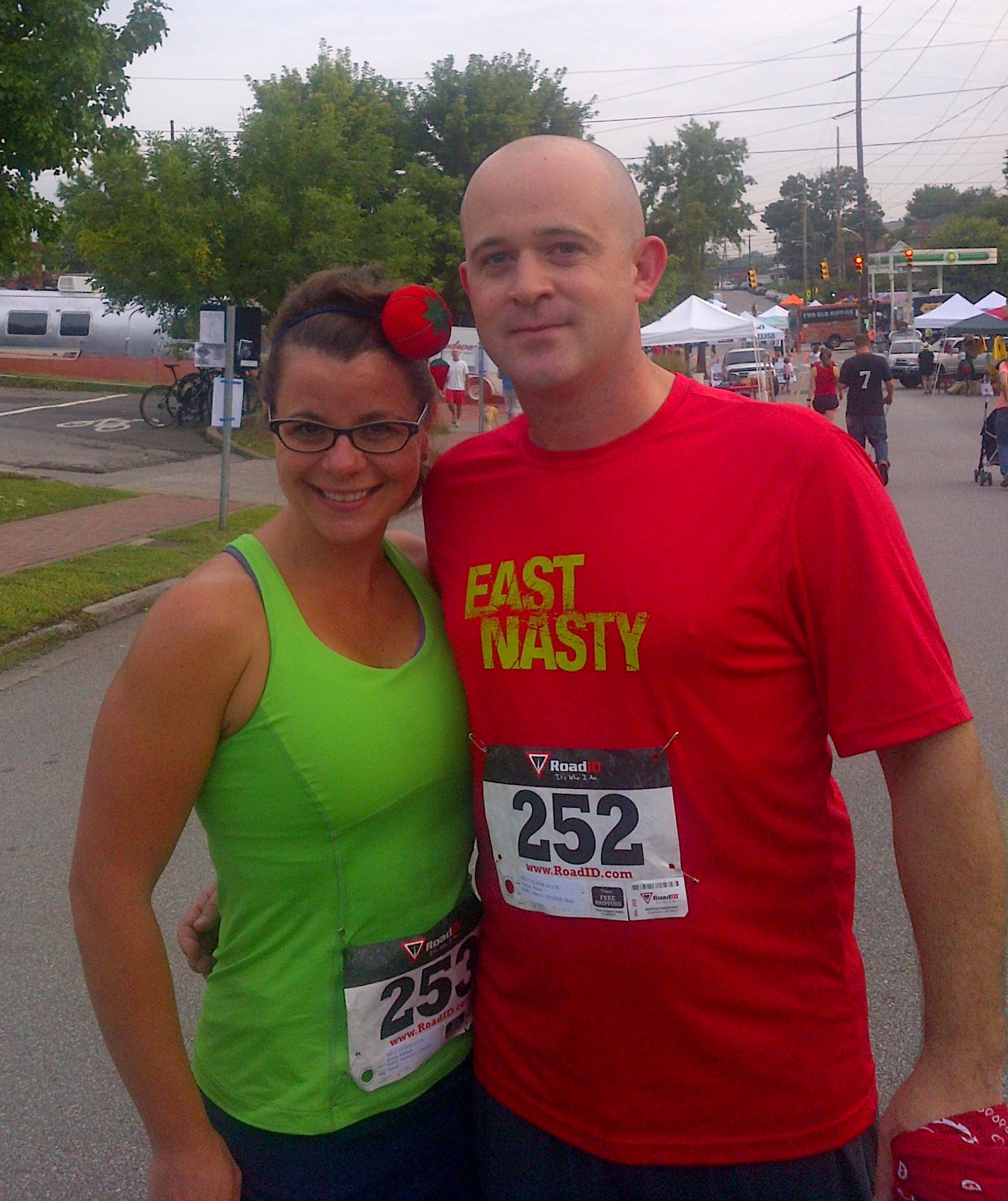 Kathleen with her husband, Aaron at the 2013 Tomato Fest 5k