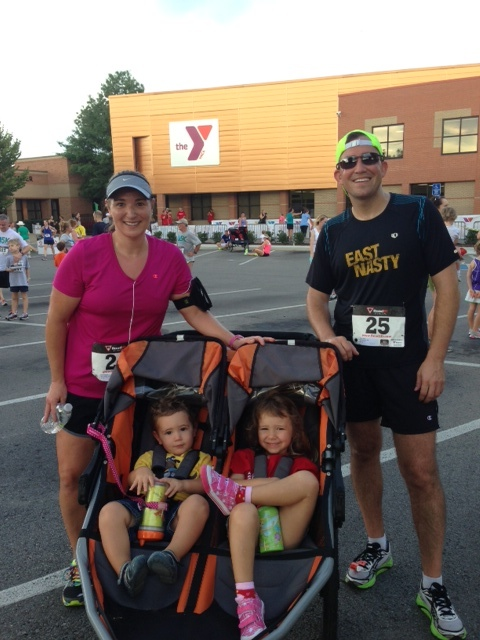 Green Hillis YMCA 5K - A great family run, pushing the double wide