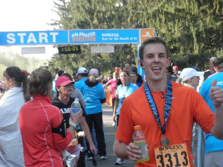 Eric's first half marathon finish, 2011