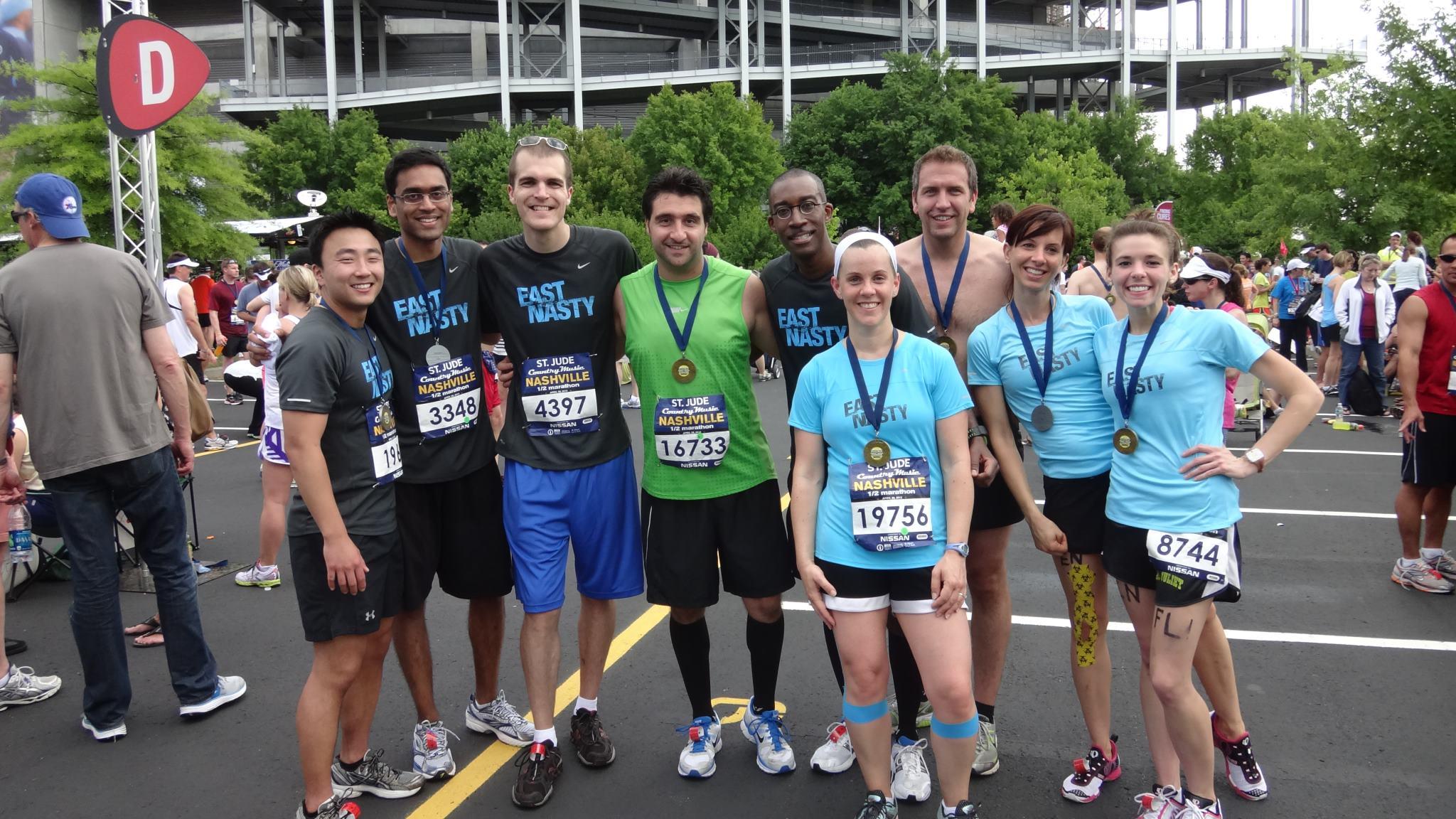 Half Marathon 2012 with fellow East Nasties