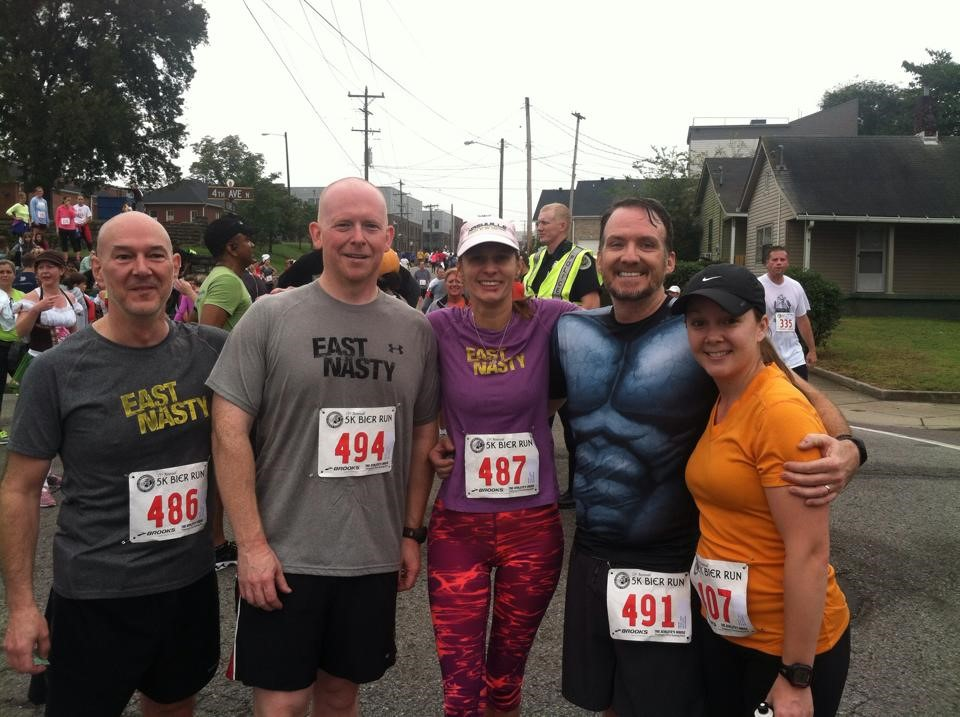2014 Bier Run with Kevin, Juanita, Jeremy, & Teryn