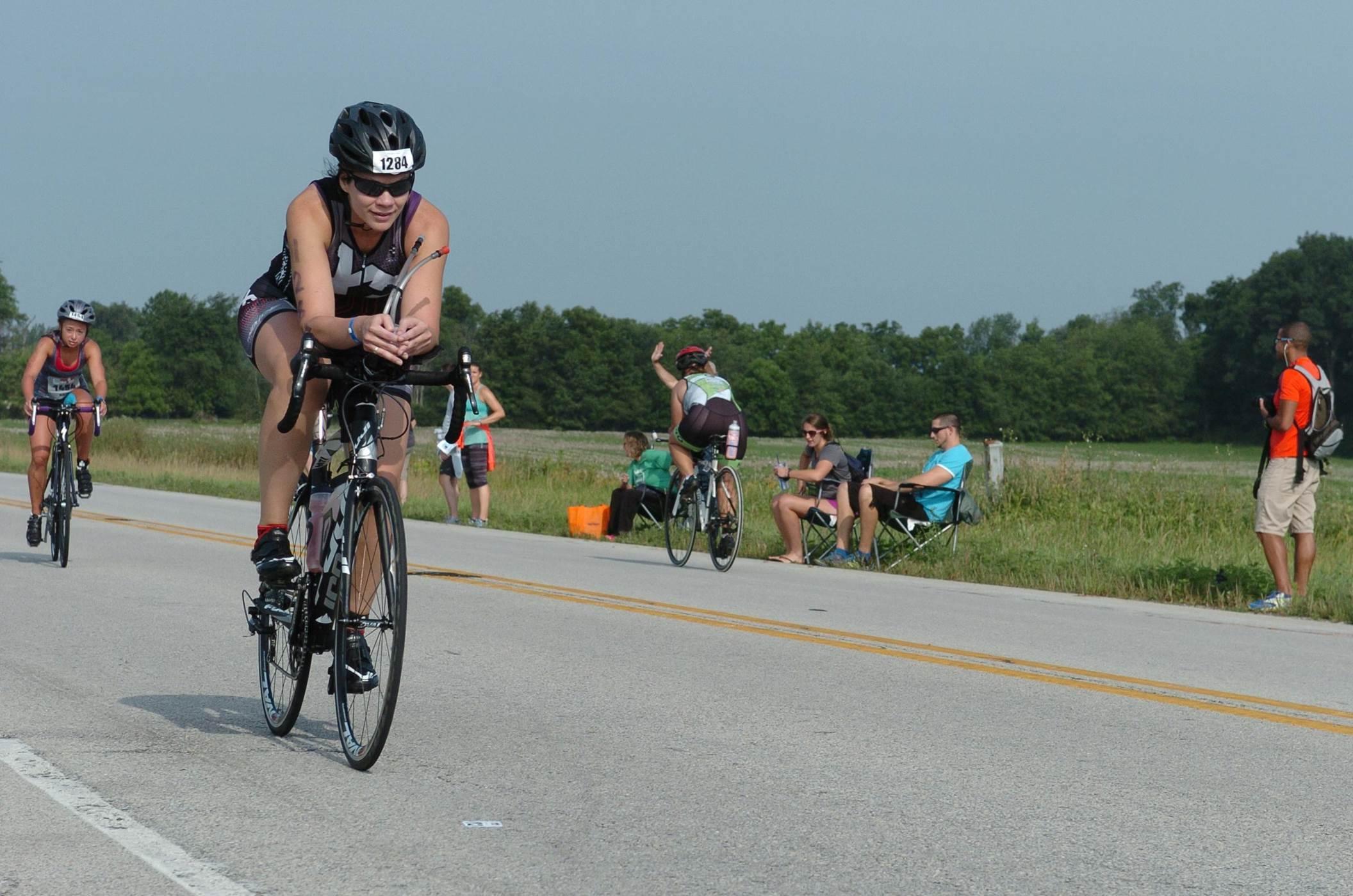 On the Muncie Half Ironman Bike course, July 11, 2015