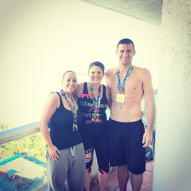 2015 Miami Marathon - the wifey and Melissa King did the half
