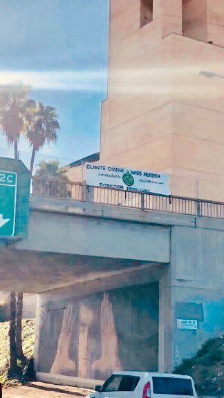 XR Los Angeles banner drop 2