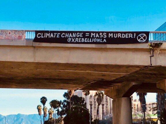 XR Los Angeles banner drop 1