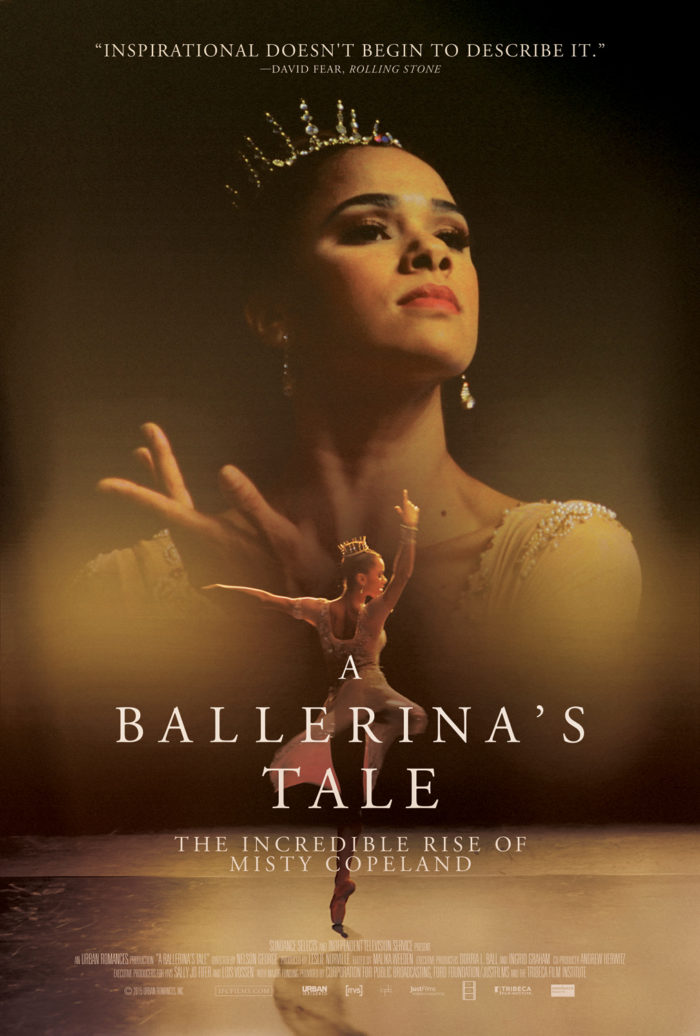 (2015) A feature documentary on African American ballerina Misty Copeland that examines her prodigious rise, her potentially career ending injury alongside themes of race and body image in the elite ballet world. -