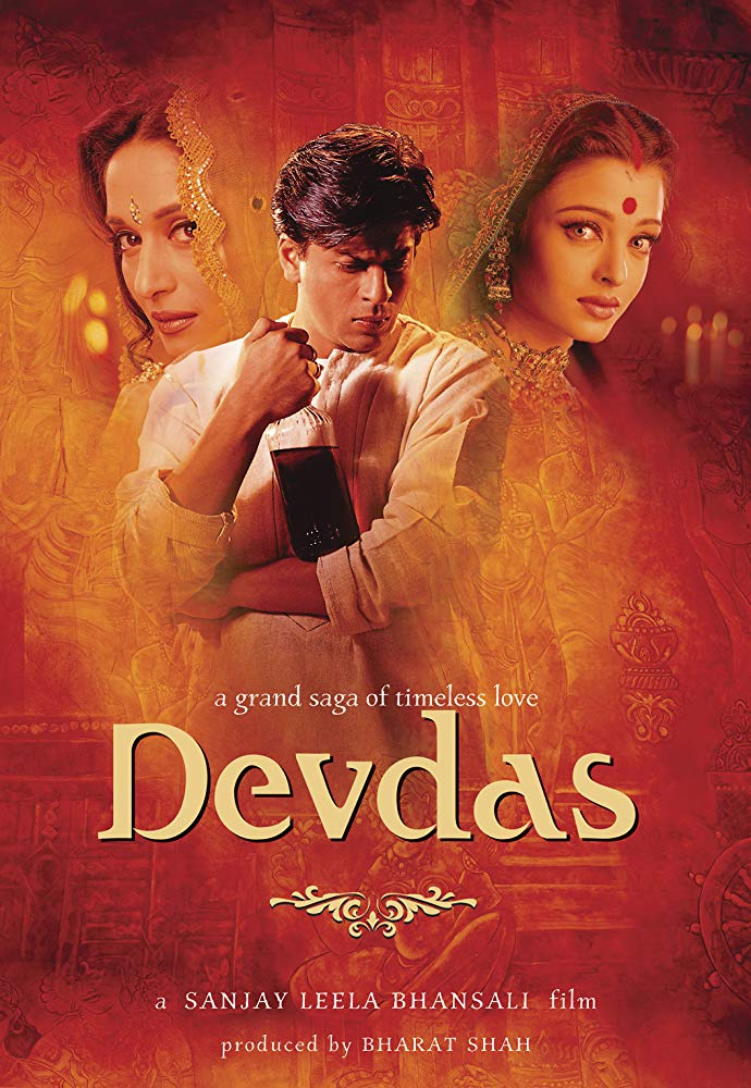 (2002) After his wealthy family prohibits him from marrying the woman he is in love with, Devdas Mukherjee's life spirals further and further out of control as he takes up alcohol and a life of vice to numb the pain. -