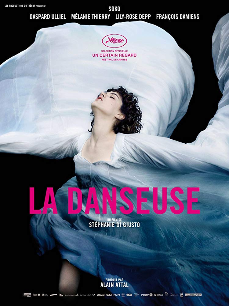(2016) Loïe Fuller was the toast of the Folies Bergères at the turn of the 20th century and an inspiration for Toulouse-Lautrec and the Lumière Brothers. The film revolves around her complicated relationship with protégé and rival Isadora Duncan. -