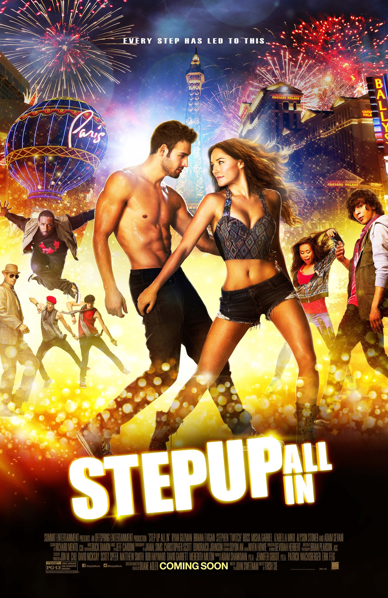(2014) All-stars from the previous Step Up installments come together in glittering Las Vegas, battling for a victory that could define their dreams and their careers. -