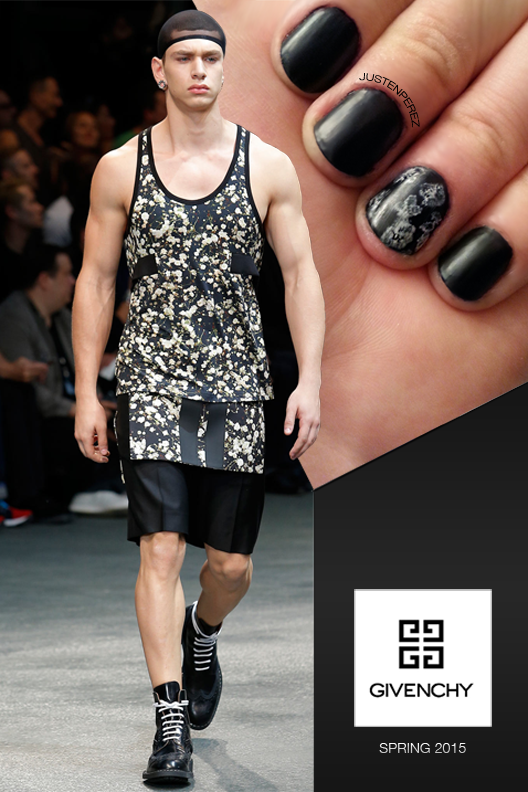 Givenchy-Men's-wear-Spring-Summer-Collection-2014-2015-Floral-manicure
