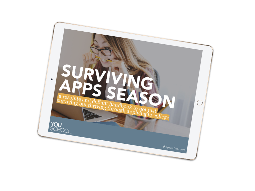 We have a (free) e-book for you - How to survive the college apps season
