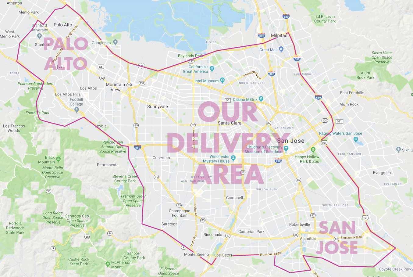 OUR DELIVERY AREA