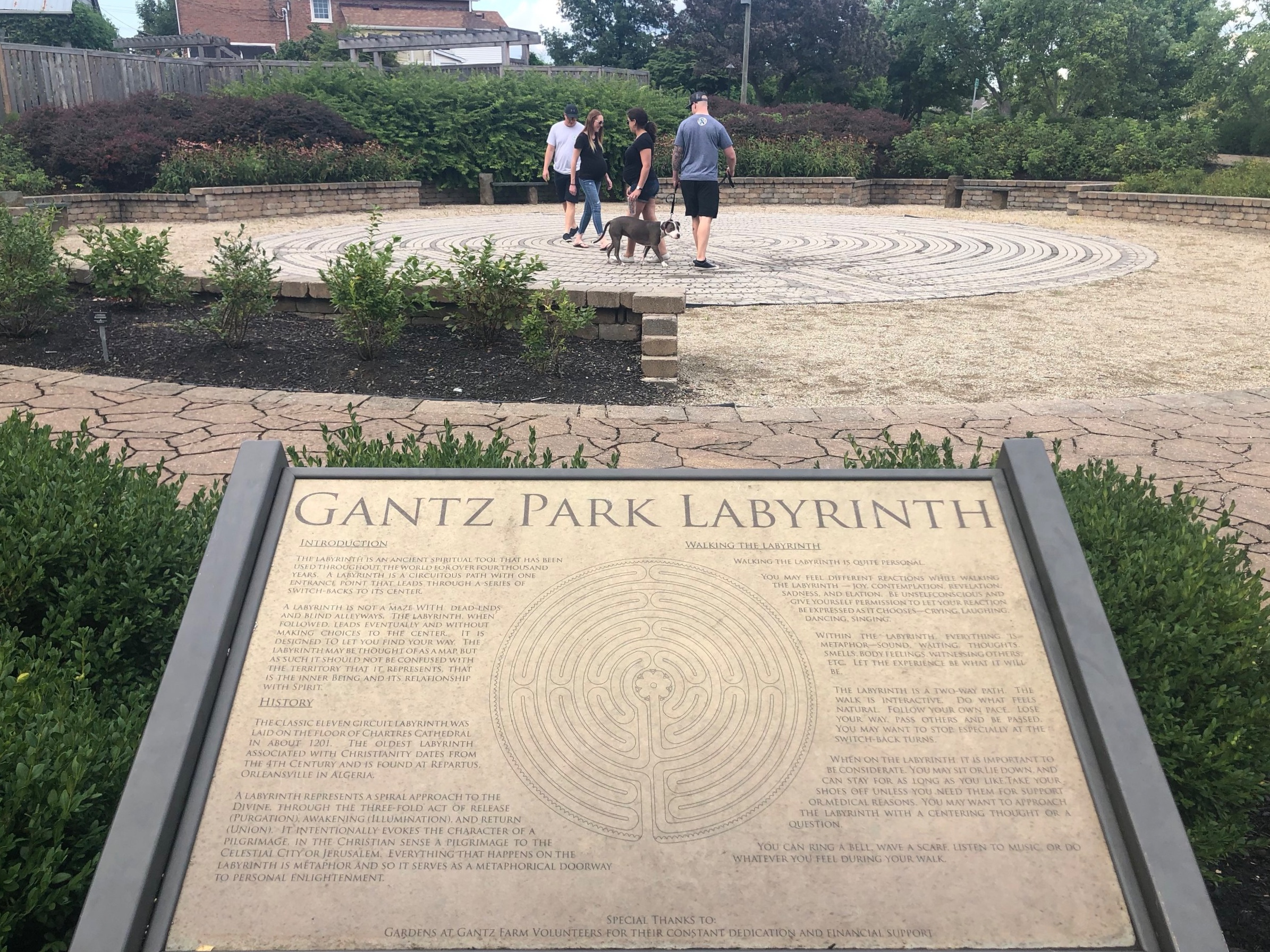 Walking the labyrinth at Gantz Park in Grove City
