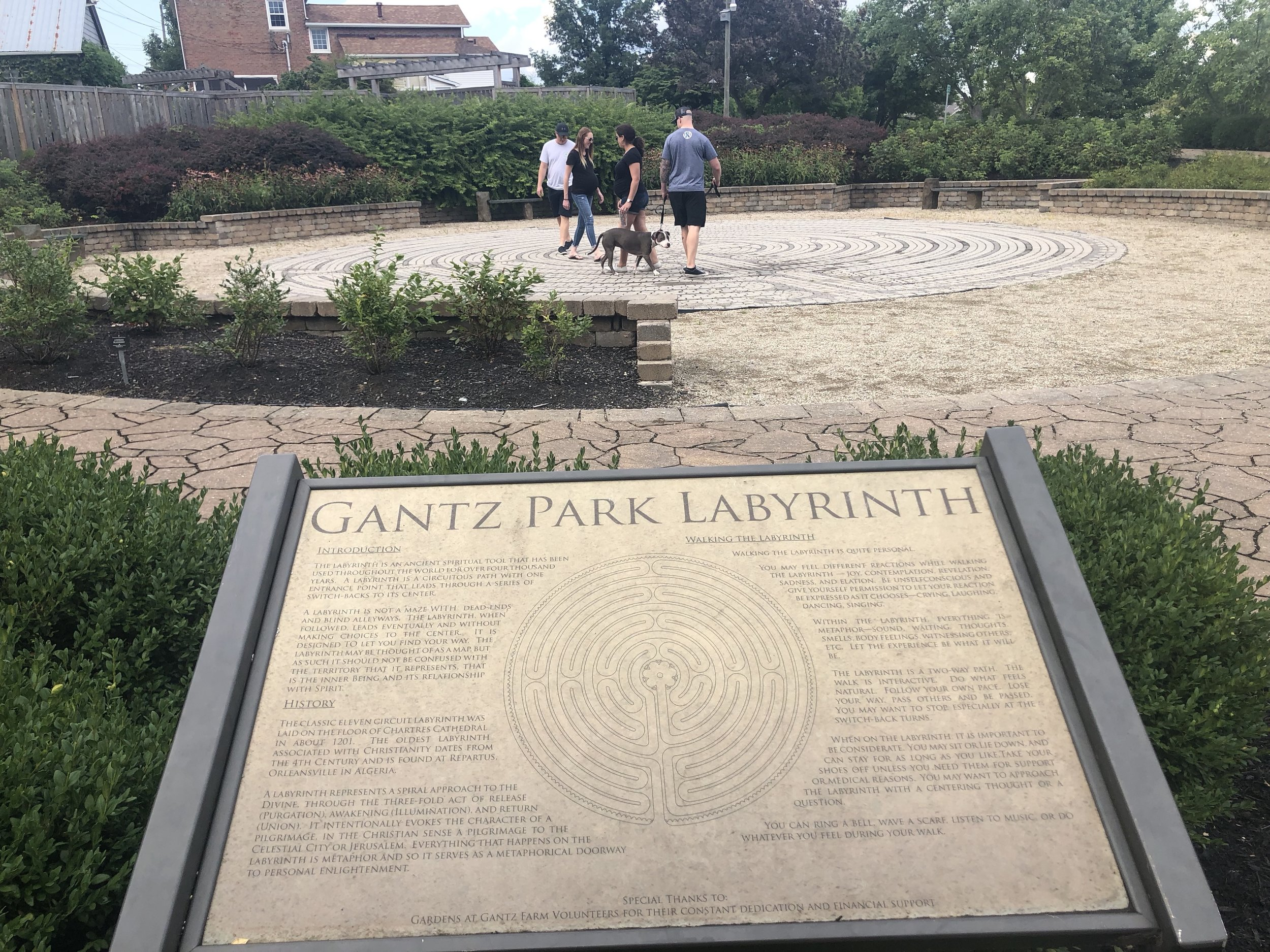 Walking the labyrinth at Gantz Park in Grove City
