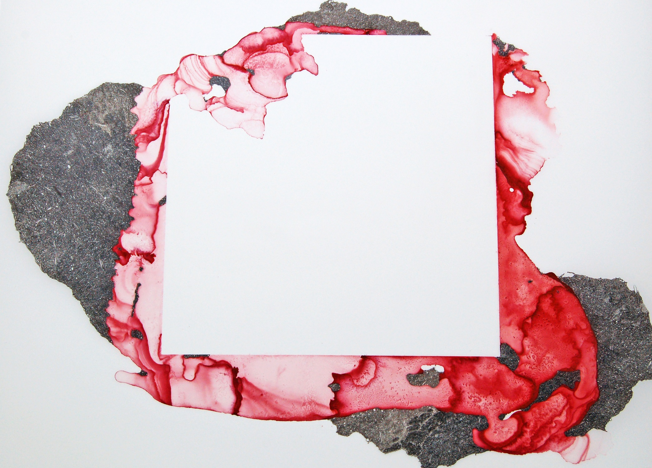 Squeeze Play Lisa Kellner Raw Pigment, Ink and Ink Drawing on Mylar 22 x 25 inches