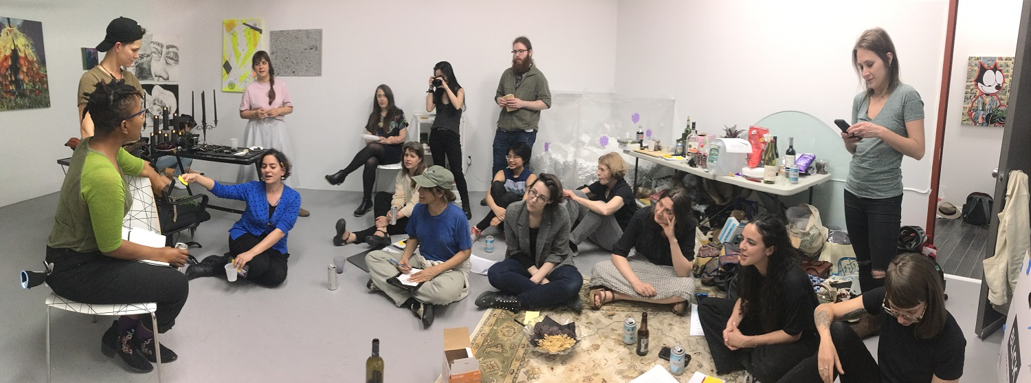 NY Crit Club: Weekly meeting in an artist's studio.
