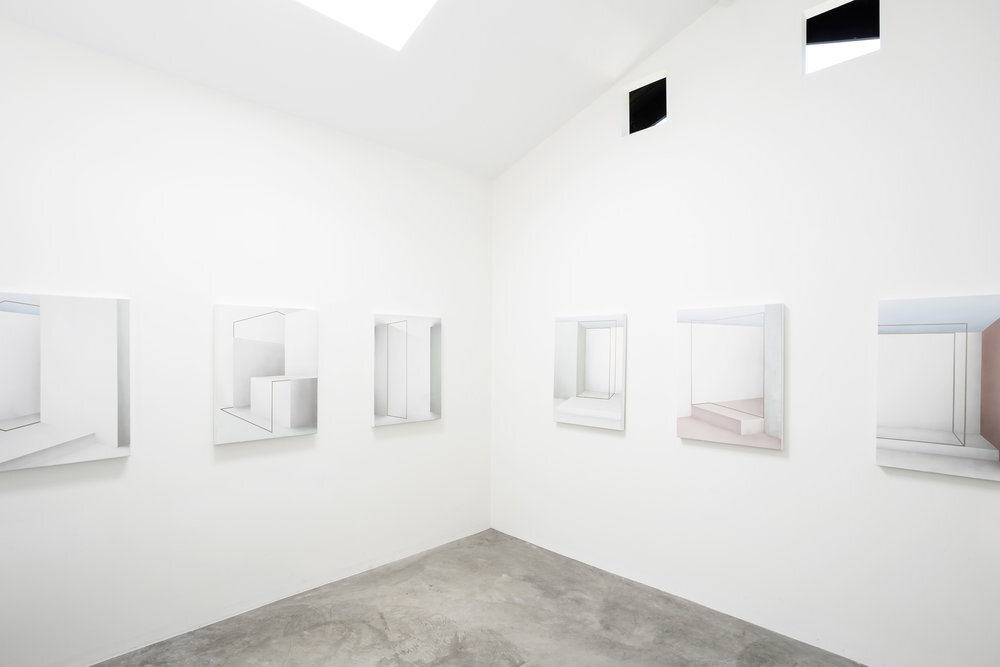 Installation View of recent Artist Resident Ira Svobodová's exhibition,   Framing Space.