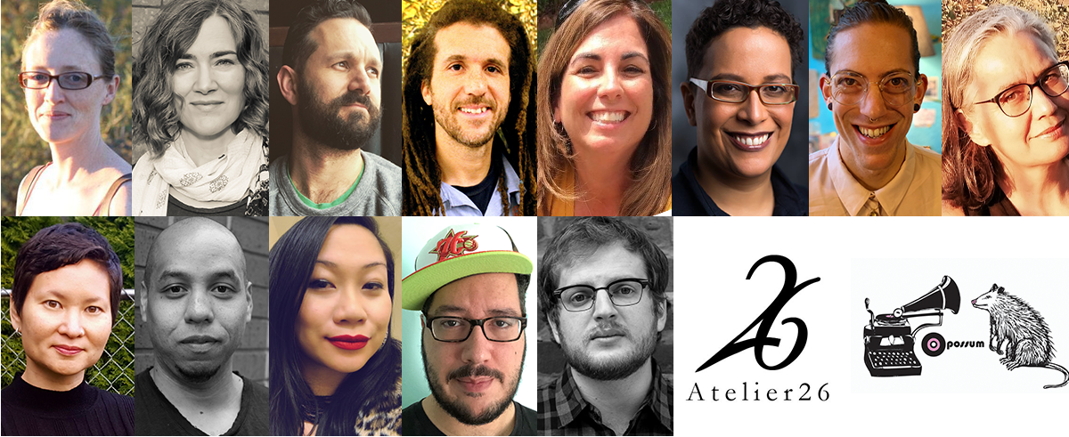 [Description: grid consisting of 13 headshots and 2 press logos] 2019 Recipients of Oregon Literary Fellowships, including me on the second row
