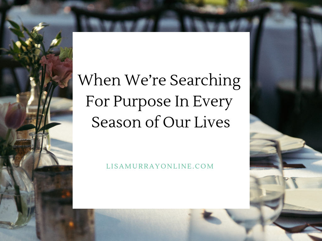 When We're Searching For Purpose In Every Season of Our Lives